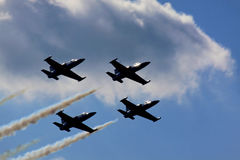 Airshow. Kiev scy clouds Planes in the sky Stock Photo