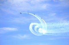 Airshow-Kunstfliegen Eastbourne Großbritannien Lizenzfreie Stockfotografie