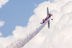 Airshow met Nigel Hopkins in MX2 Royalty-vrije Stock Foto's