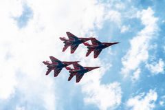 Airshow Mig-29. Airshow in Saint Petersburg, Russia stock photography