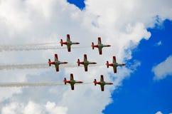 Airshow militära Italien Europa Arkivfoto