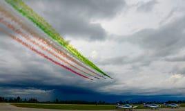 Airshow militära Italien Europa Royaltyfri Foto