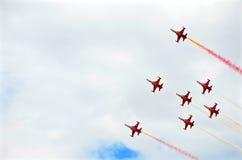 Airshow militära Italien Europa Arkivfoton