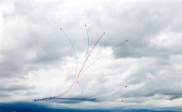 Airshow militära Italien Europa Arkivbilder