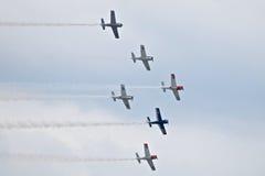 Airshow militar 2014 de la herencia de los jinetes troyanos Imagen de archivo libre de regalías