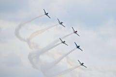 Airshow militar 2014 de la herencia de los jinetes troyanos Fotos de archivo libres de regalías