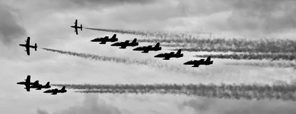 Airshow Monochrome Stock Photos