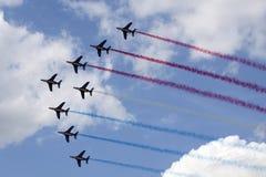 Airshow in Nederlandse lucht Royalty-vrije Stock Fotografie