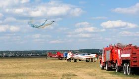 Airshow no aeródromo de Korotych Imagem de Stock