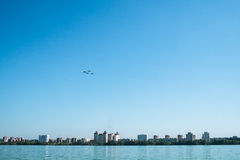 Airshow over the city Stock Image
