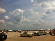 Airshow på den Columbia flygplatsen Arkivbilder