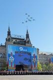 Airshow på Victory Day Arkivbild
