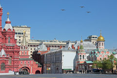 Airshow på Victory Day arkivfoto