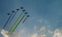Airshow. This photo was taken while the uae national day Royalty Free Stock Images