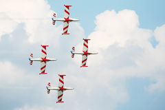 Airshow Planes on sky stock image