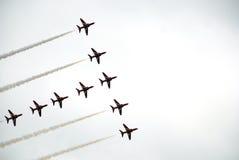 Airshow röda pilar 8 Fotografering för Bildbyråer