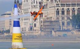 Airshow raça no ar de Budapest - de Red Bull Fotografia de Stock