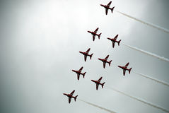 Airshow red arrows 7 stock photo