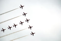 Airshow red arrows 8 Stock Image