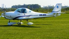 Airshow of small private aircraft on the airfield. Stock Image