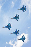 Airshow Su-34. Airshow in Saint Petersburg, Russia royalty free stock photography
