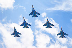 Airshow Su-34. Airshow in Saint Petersburg, Russia stock photography