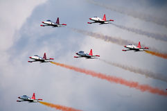 Airshow -Turkish stars Royalty Free Stock Image