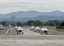 airshow USAF thunderbirds στοκ εικόνα με δικαίωμα ελεύθερης χρήσης