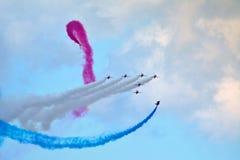 Airshow w Scarborough rewolucjonistki strzałach zdjęcie stock