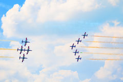 Airshow in Zhukovsky, Russia Royalty Free Stock Photos