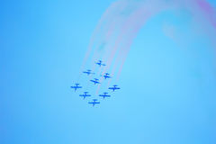 Airshow in Zhukovsky, Russia Royalty Free Stock Image