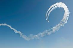 Airshow zwei Flugzeuge Stockfotos