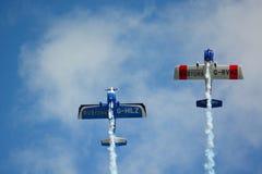 Airshowvliegtuigen Stock Afbeeldingen