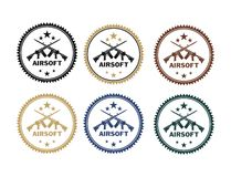 Airsoft badges Royalty Free Stock Photo