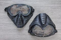 Airsoft BB炮铜滤网面具,面孔安全保护 库存照片