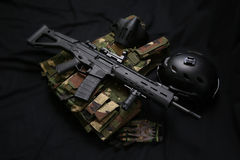 Airsoft Equipment Stock Photo