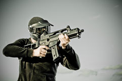 airsoft gracz Fotografia Royalty Free