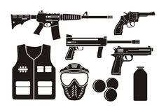 Airsoft gun equipment Royalty Free Stock Images