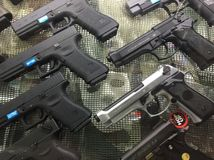 Airsoft pistolet Obraz Stock