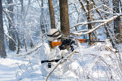 Airsoft player Royalty Free Stock Photo