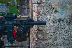 Airsoft player Royalty Free Stock Photos