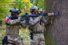 Airsoft players Royalty Free Stock Photos