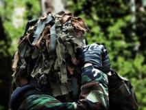 Airsoft recon com camuflagem mascarada Imagens de Stock Royalty Free