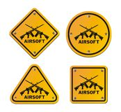 Airsoft roadsigns Royalty Free Stock Images