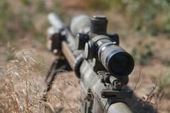 Airsoft sniper rifle stock images