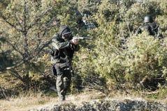 Airsoft soldat Arkivbild