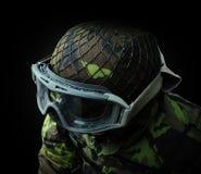 airsoft Soldat, Ansicht von oben genanntem auf dem Oberleder Lizenzfreie Stockbilder