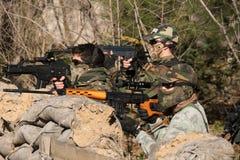 Airsoft soldatskytte Royaltyfria Foton