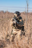 airsoft Soldattraining auf den Gebieten Lizenzfreie Stockfotos