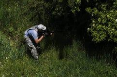 Airsoft spelare Royaltyfria Bilder